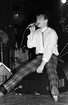 U2 ~ Bono, the early years....Oh No! Not the plaid pants!