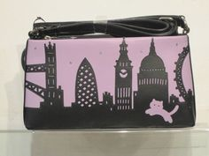 "New Season Ciccia ""London Skyline Silhouette"" Leather Shoulder Bag"