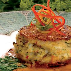 Florida Blue Crab Cakes with Tangy Butter Sauce