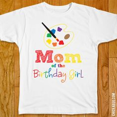 Mom/Dad of the Birthday Boy/Girl Art Party Iron-On (Shirt or Onesie)