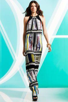 Diane von Furstenberg Pre-Fall 2014 Fashion Show - Model Muriel Beal