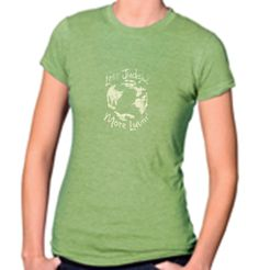 Less Judgin' More Luvin'   Heather Green Women's Tee