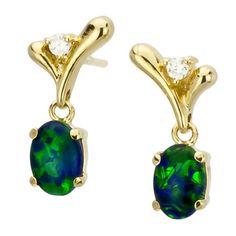 AUSTRALIA OPAL - Opal Earrings (E5000GB), $114.00 (http://www.australiaopal.com.au/opal-earrings-e5000gb/)