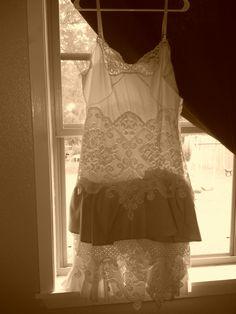 Vintage lace slip dress