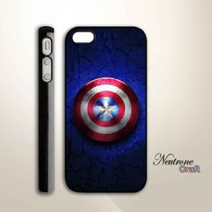 iPhone 5 Hard Case  Captain America Shield  Phone by NeutroneCraft, $16.00