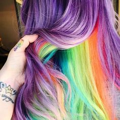 colorful, hair, and hairstyle image