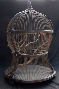 Antique Victorian Decorative Bird Cage. I wouldn't want to keep a live bird, but I'd love to have something like this filled with flowers.