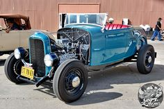 Traditional style roadster.