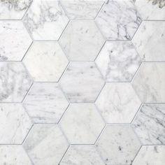 Hex & Herringbone, Fosso 4-inch Hex marble tile