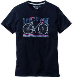 "T-Shirt ""Never Stop"" - schwarz"