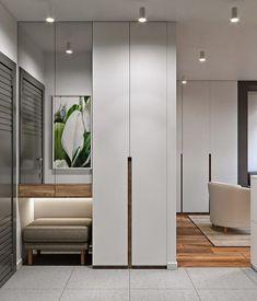 home decor ideas hallway Hall Wardrobe, Wardrobe Door Designs, Wardrobe Design Bedroom, Wardrobe Doors, Closet Designs, Hallway Furniture, Entryway Decor, Flur Design, Small Hallways