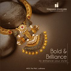Bold and Brilliance to enhance your style Visit us at our Ludhiana & Jalandhar Showrooms for more variety. #Nikkamaljewellers #jewellers #gold #polki #diamond #kundan #watches #platinum #ludhiana #jalandhar