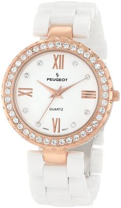 Peugeot Women's Ceramic Swarovski Crystal Bezel Watch -- Startling review available here