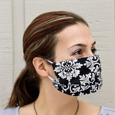 Easy DIY surgical mask pattern. 5 sizes from age 3 to an XL adult. Printable pattern pieces. Germ Free Face Mask Pattern. Sew your own.  This style is also popular in Japan as street wear.