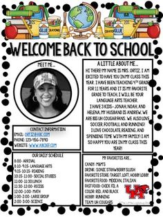 Meet The Teacher Newsletter • Meet The Teacher Letter • Welcome Letter