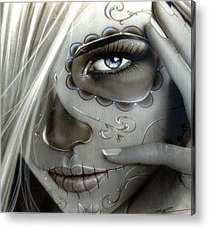 'metallic Decay' Metal Print by Christian Chapman Art
