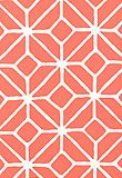 """Trellis Print Watermelon Fabric SKU - 174232 Match - Straight Width - 54"""" Horizontal Repeat - 18"""" Vertical Repeat - 18"""" Fabric Content - 100% Acrylic Twill Lightfastness - 500 Hours Country of Finish - United States of America Indoor / Outdoor Available colorways 174230 - Pool 174231 - Dune 174232 - Watermelon 174233 - Citron 174234 - Apple 174235 - Marine"""