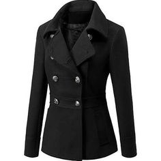 Winter Outfits, Casual Outfits, Amazon Clothes, Winter Shirts, Double Breasted Trench Coat, Professional Outfits, Minimal Fashion, Jacket Style, Ideias Fashion