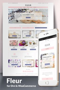 Fleur Child Theme for Divi & WooCommerce Technology Tools, All Kids, Web Design, Gift Wrapping, Children, Floral, Layouts, Handmade, Gifts