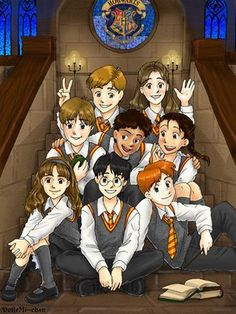 Harry•Ron•Hermione•Neville•Seamus•Parvati•Dean•Lavender