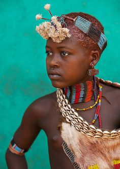 Hamer Tribe Girl, Omo Valley, Ethiopia by Eric Lafforgue