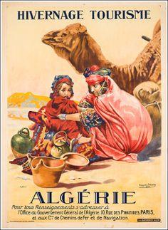 AFRICA - ALGERIA - Algerie-Irriera  Vintage Travel Poster