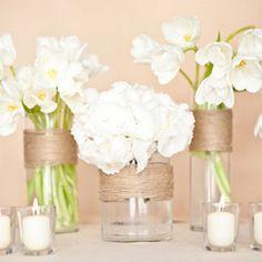 Personnaliser un vase avec de la ficelle