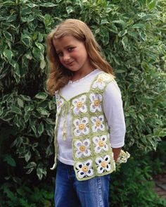 How to Crochet a Vest with a Floral Motif - For Dummies