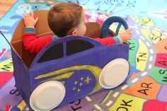 """It's a drive-in movie for toddlers and preschoolers at Children's Services at the Main Library on Tuesday, July 29, 2014! Start with a cardboard box and create & decorate your own car to """"drive"""" to the drive-in movie. All supplies will be provided. This program runs from 2:00 – 4:00pm. For more information, please contact 260-421-1220."""