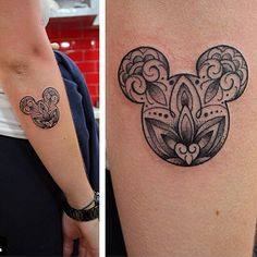 So cute!! Done by @cabeloooo! Go follow #Disney #tattoos #mickeymouse #wdw. - - Check the bio link and get your votes in for 376674!