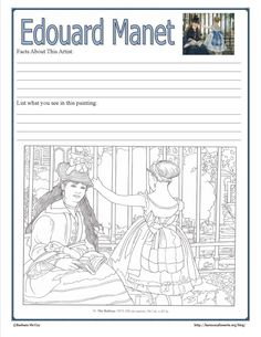 Intimate Impressionism - Edouard Manet - Harmony Fine Arts. Links and notebook page.