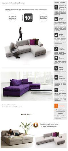 Sillon Sofa Esquinero Premium Convertible Cama Living - $ 10.175,00 en MercadoLibre