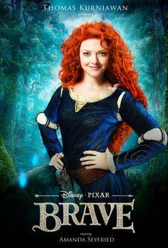 Disney Princess Celebrity starring Amanda Seyfried as Merida (brave) by Thomas Kurniawan (@TOM KUU)