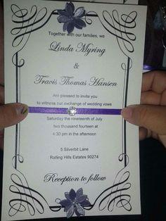 Home made easy wedding invitations