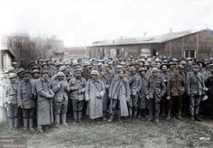 Battle of the Lys. Mostly Portuguese and a few British prisoners of war, April 1918. the battle was a huge success for the Germans but they lost all the territory they gained in the next few weeks, because of their indecisive Generals.