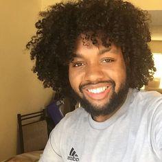 Twistout of natural hair men #natural hair care #hair #curlyhair #hairtype #twistout #braidout #washandgo #sheabutter #blackmalehair #coily  #longhairblackmen