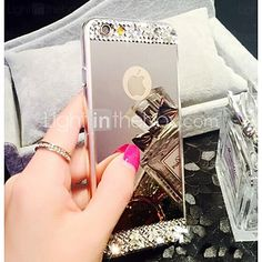 Para Funda iPhone 7 / Funda iPhone 7 Plus / Funda iPhone 6 / Funda iPhone 6 Plus Diamantes Sintéticos / Cromado / Espejo FundaCubierta - EUR €4.89