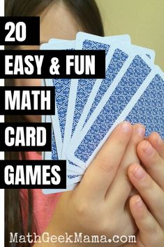 A collection of dozens of the best math card games for Kindergarten through high school, organized by math topic to help you find what you need!  #mathcardgames #mathgames #homeschool Easy Math Games, Math Card Games, Teaching Multiplication, Math Games For Kids, Fun Math Activities, Kindergarten Math Worksheets, Educational Activities For Kids, Teaching Math, Math Resources