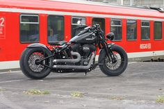Customized Harley-Davidson Softail Cross Bones with custom rearfender and our aircleaner kit. Built by Thunderbike Customs Germany