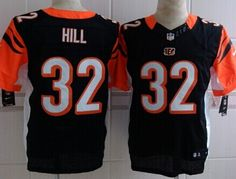 Nike Cincinnati Bengals  32 Jeremy Hill Black Elite Jersey 210f04406