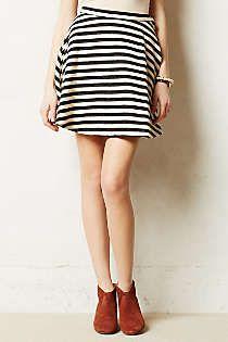 Anthropologie - Stripeswing Skirt
