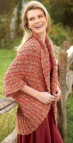 Ravelry: Simple Crochet Shrug pattern by Lion Brand Yarn