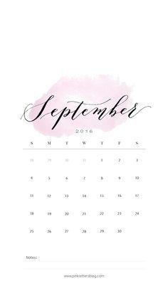 September 2016 calendar lockscreen. September wallpaper. Mobile wallpaper…