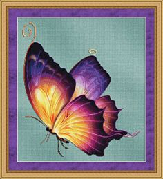 Flutter 2 Cross Stitch - cross stitch pattern designed by Tracy Warrington. Category: Butterfly.