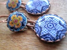 Mexican jewelry Mexican plates Mexican pottery by ShrunkenCatHeads, $ 39.00