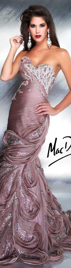 Mac Duggal couture dress mocha COUTURE DRESSES STYLE 78530D
