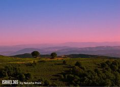 Sunset over the Land of Israel