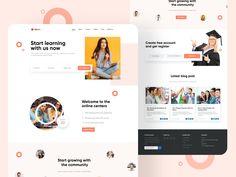 Creative Website/ Landing page-UX/UI Design by Hira Riaz Ecommerce Web Design, Web Ui Design, Box Design, West Coast University, Web Class, University Website, Beautiful Website Design, Ui Web, Landing Page Design