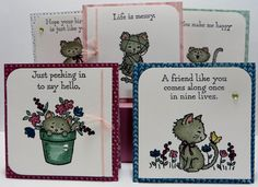 Lynn's Locker: Stampin' Up Pretty Kitty Foxy Friends Fox Builder Perfect Pines Altered Petite Cafe Bag Card Holder