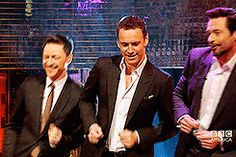 James McAvoy, Michael Fassbender and Hugh Jackman dancing on The Graham Norton Show.